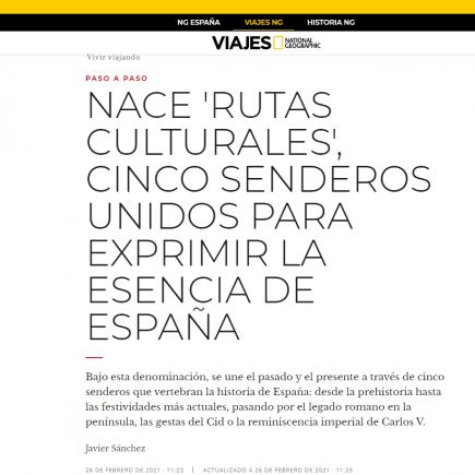 NACE 'RUTAS CULTURALES', CINCO SENDEROS UNIDOS PARA EXPRIMIR LA ESENCIA DE ESPAÑA
