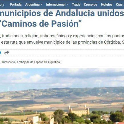 Reportaje en medio de Argentina, Daily Travelling News: Diez Municipios unidos por una ruta «Caminos de Pasión»