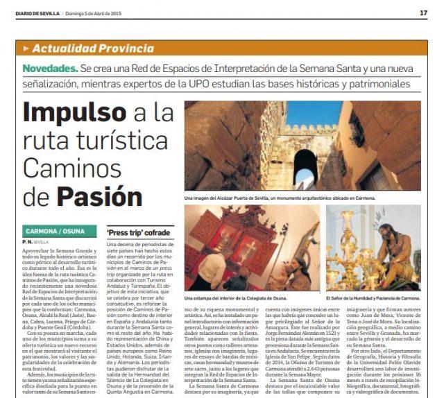 Caminos de Pasión en Diario de Sevilla