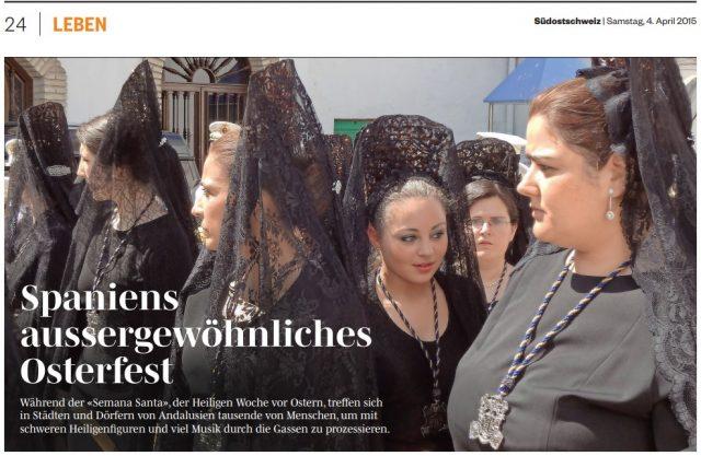 Caminos de Pasión en el periódico Südostschweiz (Suiza)