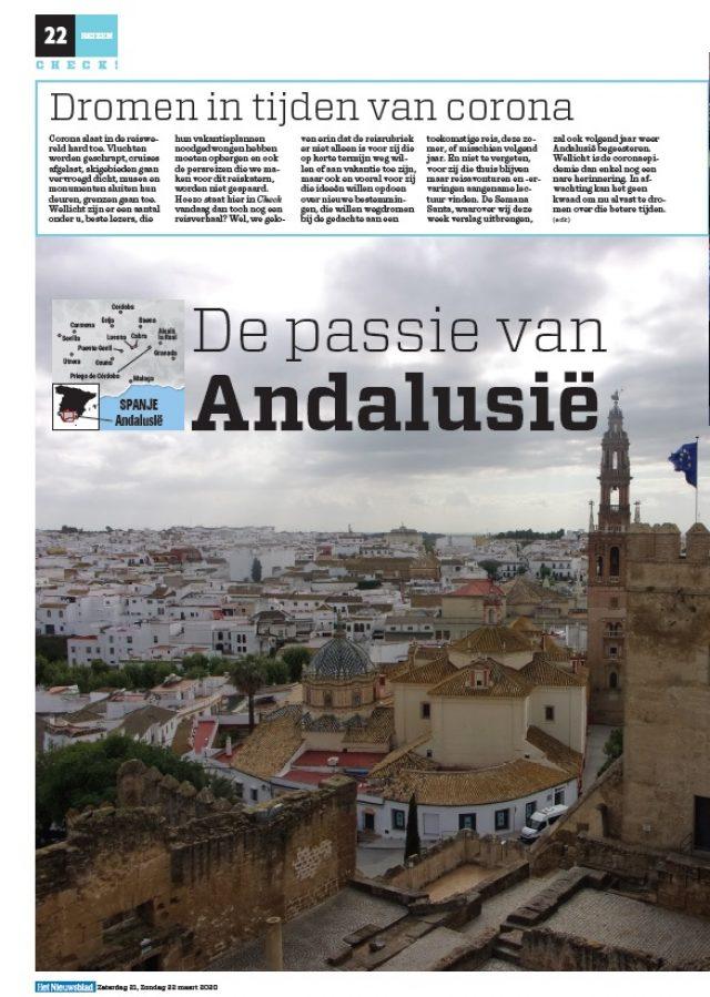 Caminos de Pasión en el diario belga 'Het Nieuwsblad'