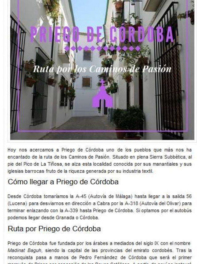 Ruta por los Caminos de Pasión- Rutas por España