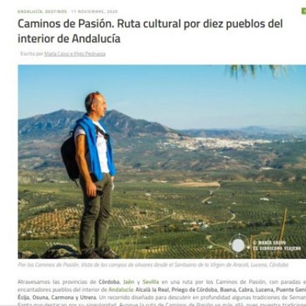 Reportaje sobre Caminos de Pasión en el Giróscopo Viajero, 2020.